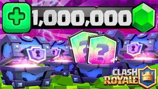 "Clash Royale Pack Opening ""1 MILLION DE GEMMES"" 7500€ de SUPER MAGICAL CHEST !"