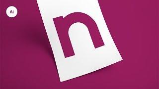 كيفية إنشاء مخصص حرف N في Adobe Illustrator | Nishal التوضيح