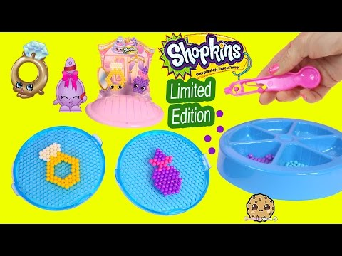 06:33 Create Shopkins Season 3 Limited Edition Roxy Ring And Season 1 Curly  Brush Beados Beads Playset