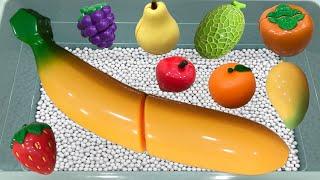 과일 장난감을 이용해서 모양과 색깔을 배워요...바나나…