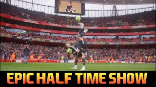 epic skill run half time performance   f2freestylers   freestyle duo double act