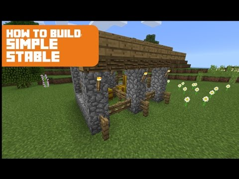 Minecraft How To Build Horse Stable