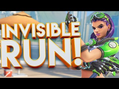 OVERWATCH INVISIBLE RUN CUSTOM GAMEMODE!? (HOW LONG CAN YOU SURVIVE!?)