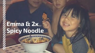 She keeps asking to try the 2x spicy noodle...