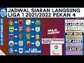 Link Streaming Gratis, Jadwal BRI Liga 1 2021 Pekan 4 Live Indosiar Hari Ini dan Klasemen Terkini