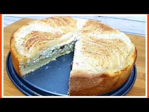 TARTA DE QUESO CON PERA - Una tarta de queso con sabor único!!