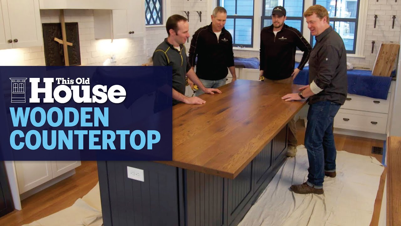 How To Install A Wooden Kitchen Island Countertop This Old House Youtube