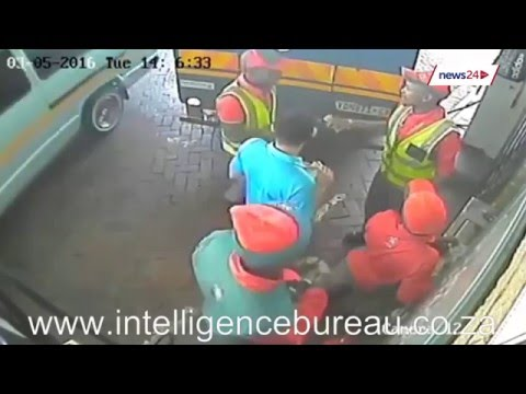 WATCH Cash in transit at Durban garage