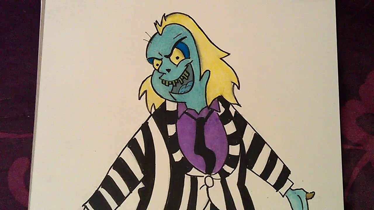 My Drawing Of Beetlejuice From The Cartoon Series Youtube