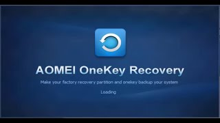 Tutorial: Create Factory Reset Partition using AOMEI OneKey Recovery