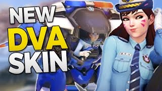 Overwatch NEW OFFICER DVA SKIN + ONI GENJI RETURNS