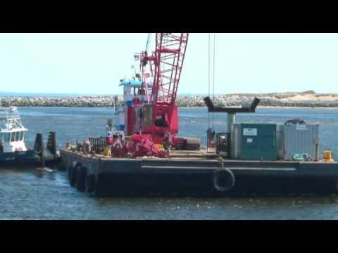 2nd Crane Barge Coming up Merrimack River