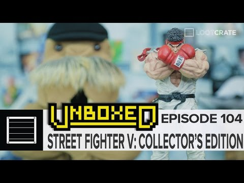Street Fighter V Collector's Edition - Unboxing with Loot Crate: Episode 104 - 동영상