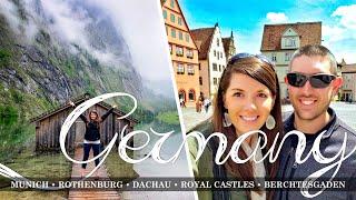 Germany Travel Vlog | Munich, Rothenburg, Dachau, Royal Castles, Berchtesgaden