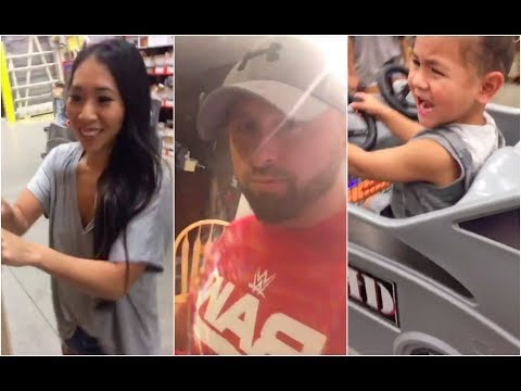 Karl Anderson and his hot asian family spend the day together after Raw
