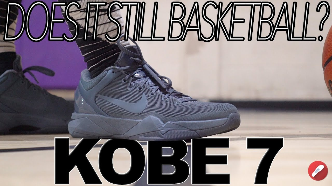 eed9a7651af Does It Still Basketball   Nike Kobe 7 Fade To Black! - YouTube