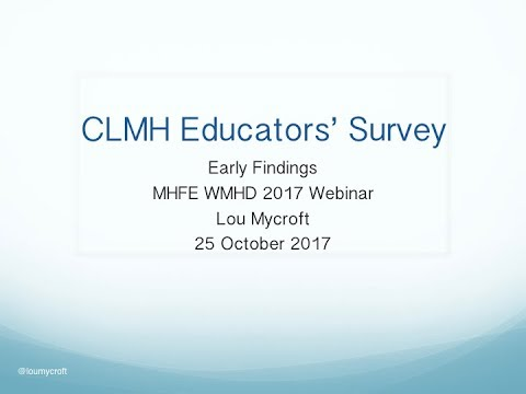CLMH Educators' Survey - What's our wellbeing like?