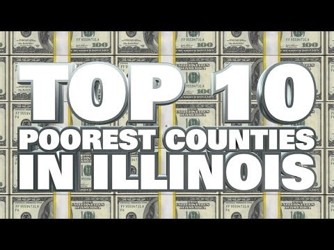 10 poorest counties in Illinois 2014