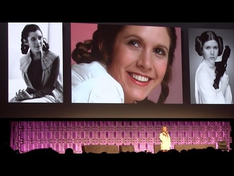Thumbnail: Carrie Fisher tribute at Star Wars Celebration 2017 with George Lucas, daughter Billie Lourd