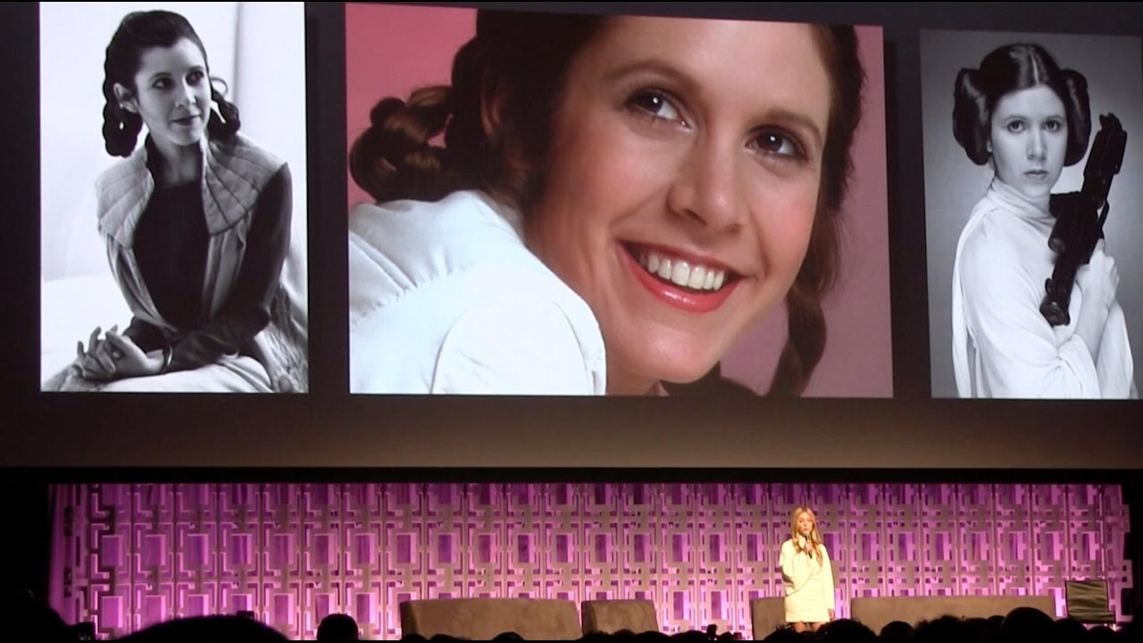 watch george lucas billie lourd honor smart bold carrie fisher 4