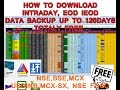 How To Download Free Intraday Data - IEOD - ZERODHA