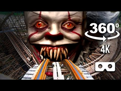 Escape Pennywise VR VIDEO 360 Coaster Dark Ride for Virtual Reality VR BOX 4K 60fps
