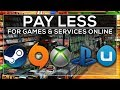 PAY LESS FOR GAMES & SERVICES ONLINE 🕹️
