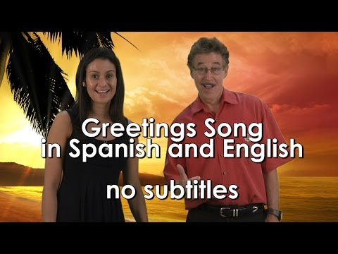 Greetings Song for Kids in Spanish and English with no subtitles | Jack Hartmann