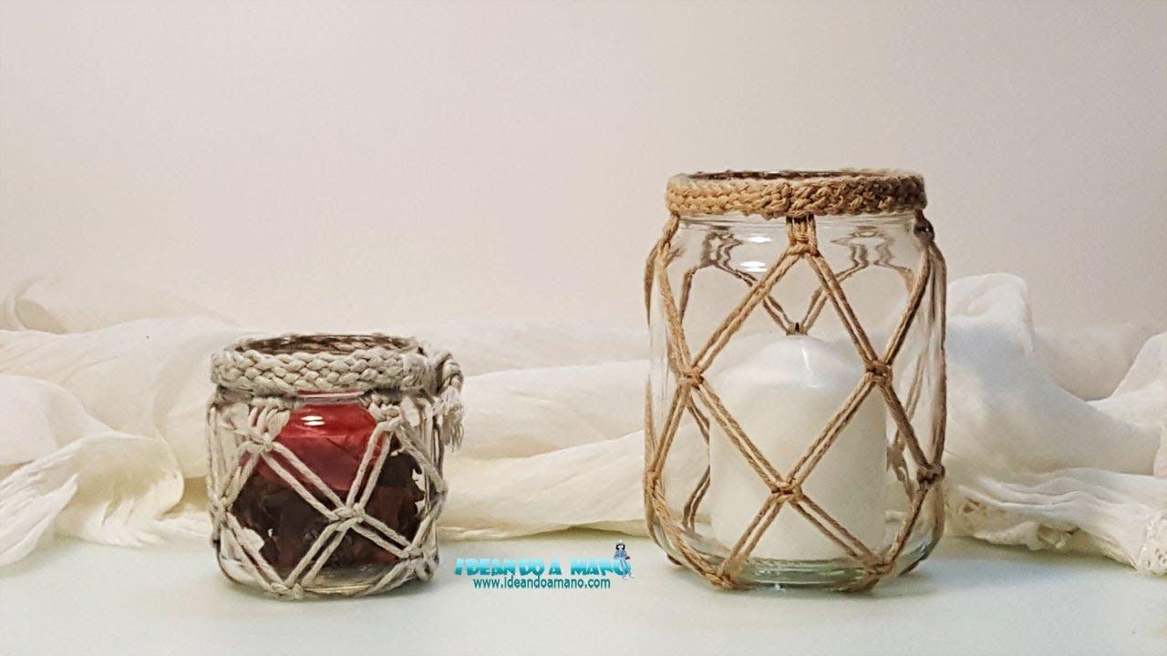 Reciclar tarros de cristal decoraci n youtube for Tarros de cristal vintage