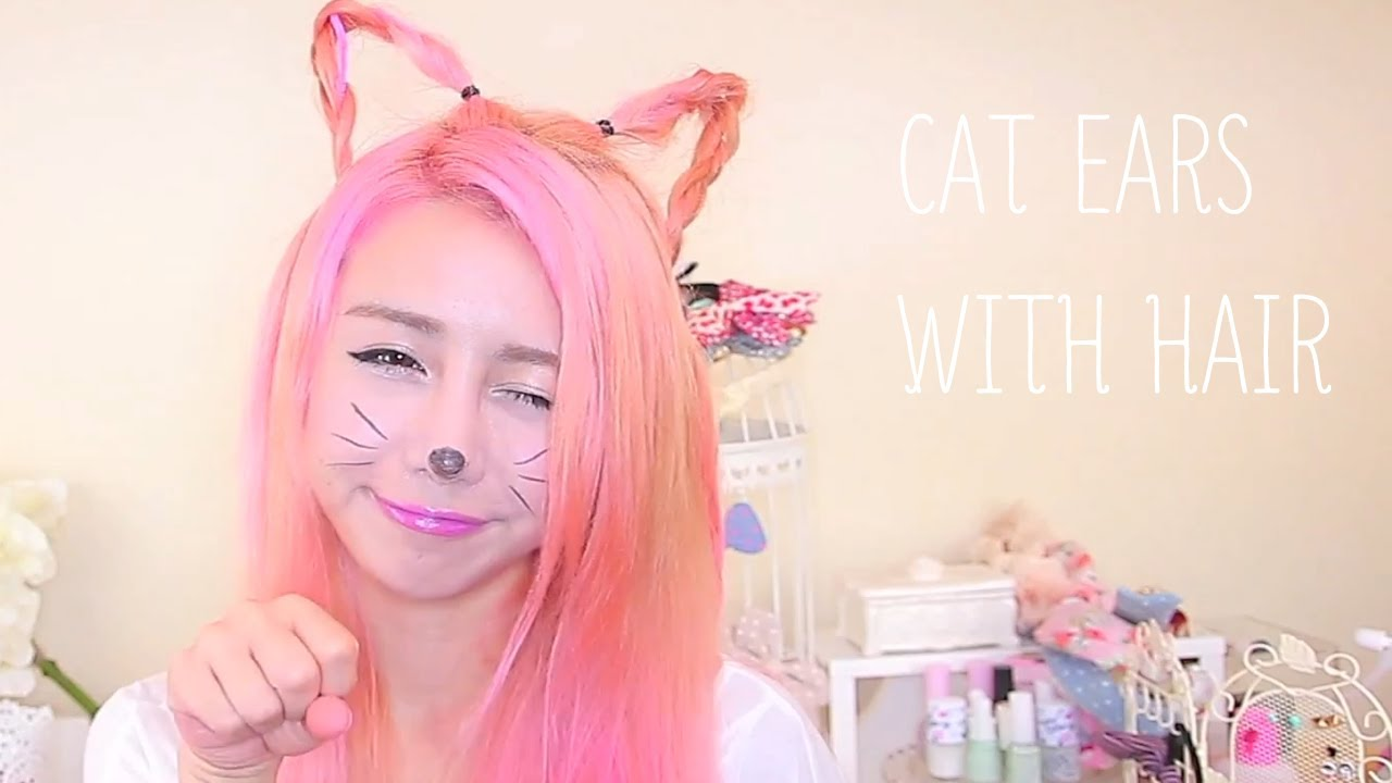 How To Make Cat Ears Out Of Your Hair