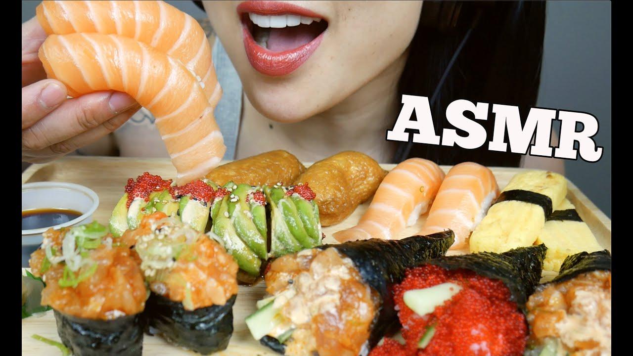 ASMR SUSHI PLATTER FEAST (EATING SOUNDS) NO TALKING | SAS-ASMR