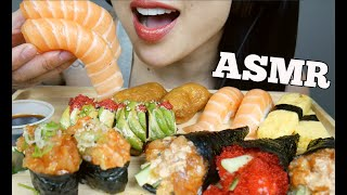 ASMR SUSHI PLATTER FEAST (EATING SOUNDS) NO TALKING   SAS-ASMR