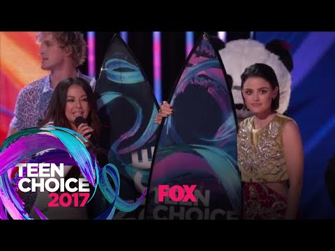 Jake Paul Surprises Lucy Hale And Janel Parrish  TEEN CHOICE