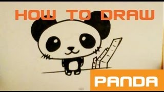 How to Draw Panda Bear - Easy Things To Draw