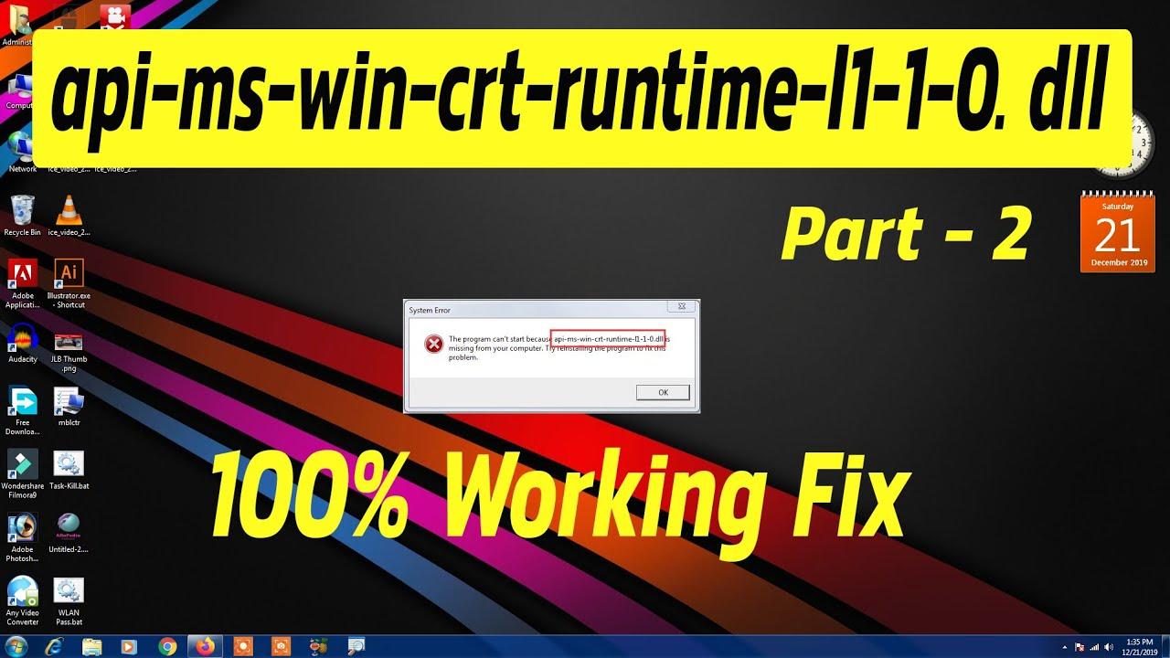 Api-Ms-Win-Crt-Runtime-L1-1-0.Dll Download