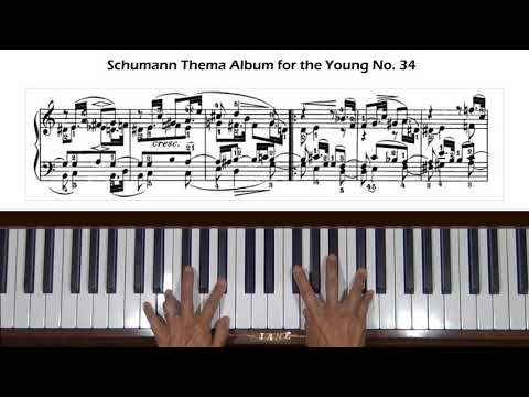 Schumann Thema Album For The Young Op. 68, No. 34 Piano Tutorial