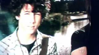 Posters of Jonas Brothers on the novela La Rosa De Guadalupe