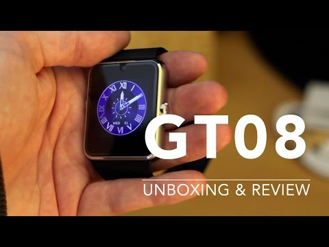 Review & Unboxing of GT08 Bluetooth Smart Watch with 3G From Aliexpress & Gearbest