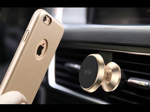 磁吸式車用手機支架 + 磁吸式手機殼 - YouTube