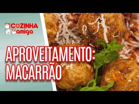 Bolinho e Frittata de Espaguete e Torresmo de Macarrão -  Raquel Novais | Cozinha Amiga (16/07/18)