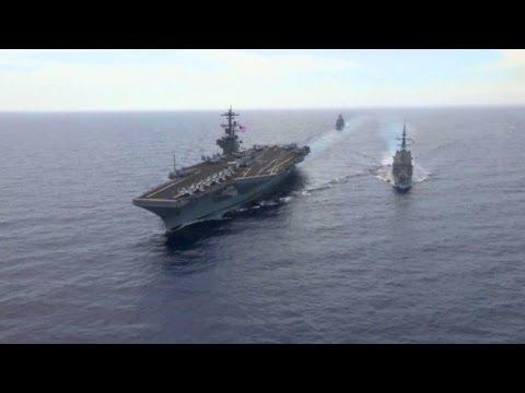 USS George H.W. Bush at Sea. Aerial View | AiirSource