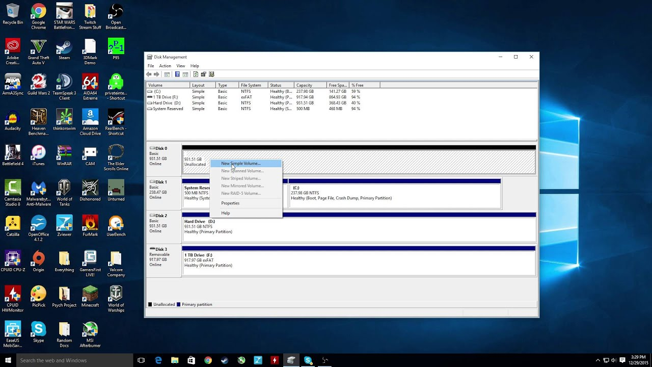 How to format a new HDD or SSD [Windows 10] - YouTube