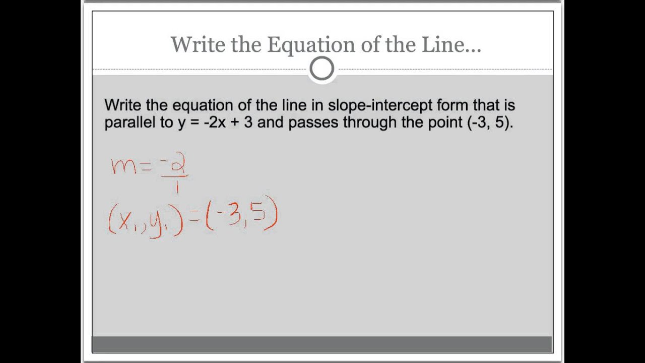 Write equations parallel perpendicular lines cchs youtube write equations parallel perpendicular lines cchs falaconquin