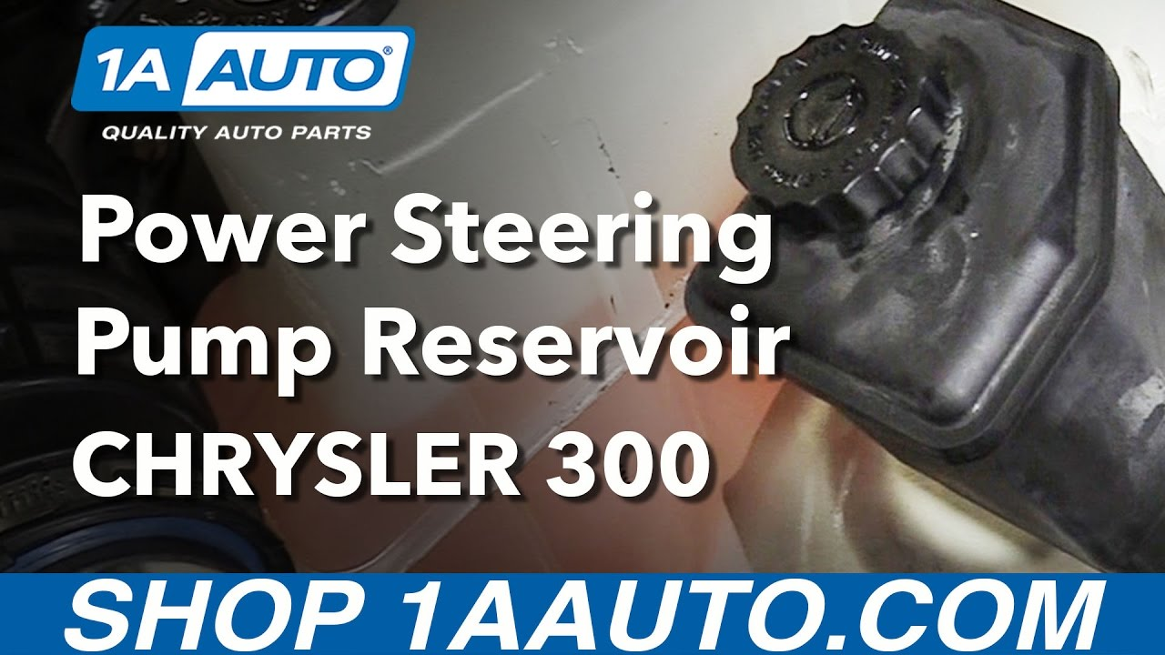 medium resolution of how to install replace power steering pump reservoir 2005 10 chrysler 300 youtube