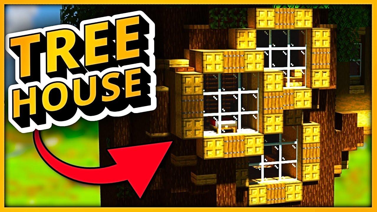 Minecraft Timelapse: 3 Treehouse Ideas