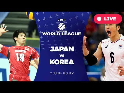 Japan v Korea - Group 2: 2017 FIVB Volleyball World League