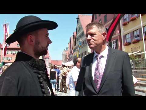 Interview mit Klaus Johannis, Bürgermeister von Hermannstadt, Dinkelsbühl 2014