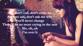Over it lyrics by Katharine McPhee