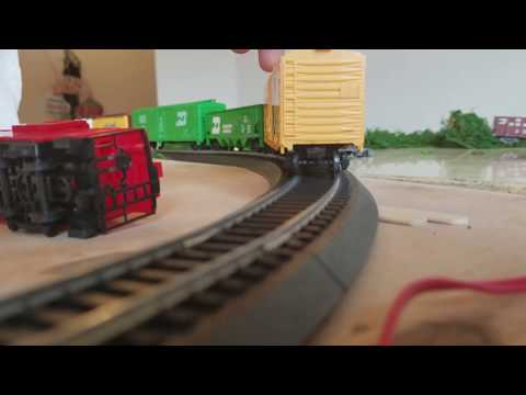 The great power trains crash part 3 ho scale flies off the rails