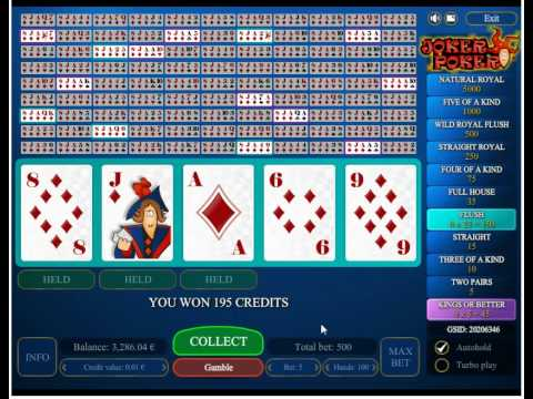 online casino games poker joker